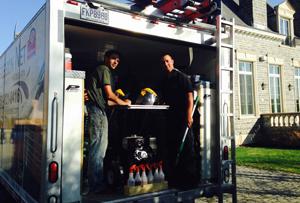 Service de nettoyage de brique et pavé uni - Lavage Pression Net à Morin Heights